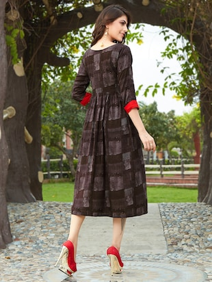 Flared printed dress - 15567923 - Standard Image - 2