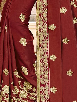 Gotta patti  embroidered saree with blouse - 15608449 - Standard Image - 2