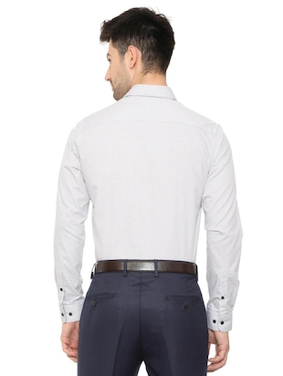 white cotton formal shirt - 15608603 - Standard Image - 2
