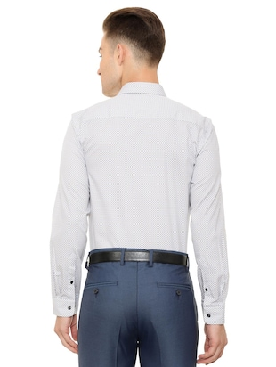 white cotton formal shirt - 15608608 - Standard Image - 2