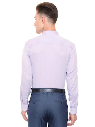 purple cotton blend formal shirt - 15608633 - Standard Image - 2