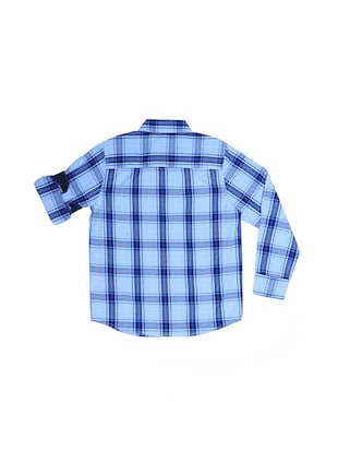 blue cotton blend shirt - 15608917 - Standard Image - 2