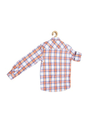 orange cotton blend shirt - 15608999 - Standard Image - 2