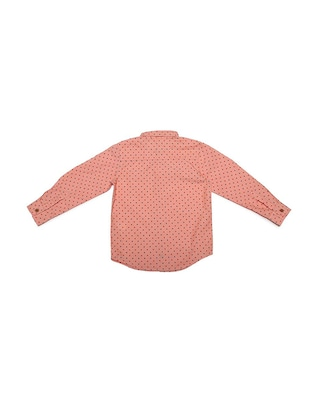 orange cotton blend shirt - 15609031 - Standard Image - 2