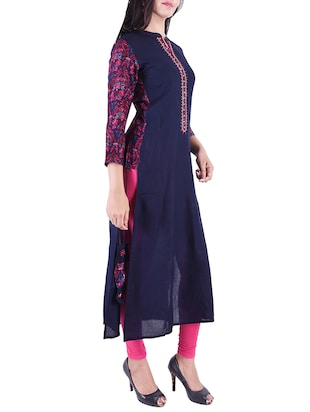 Embroidered straight kurta - 15609224 - Standard Image - 2