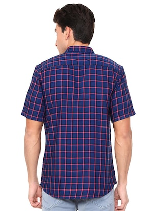 blue polyester blend casual shirt - 15609282 - Standard Image - 2
