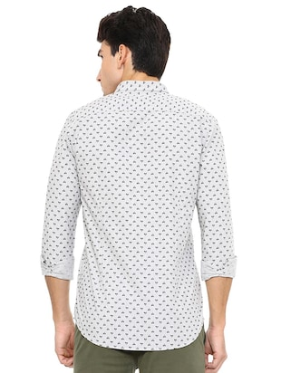white cotton casual shirt - 15609301 - Standard Image - 2