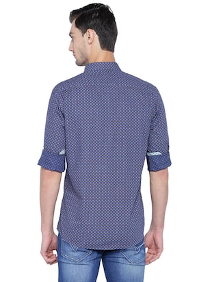 blue cotton casual shirt - 15609381 - Standard Image - 2