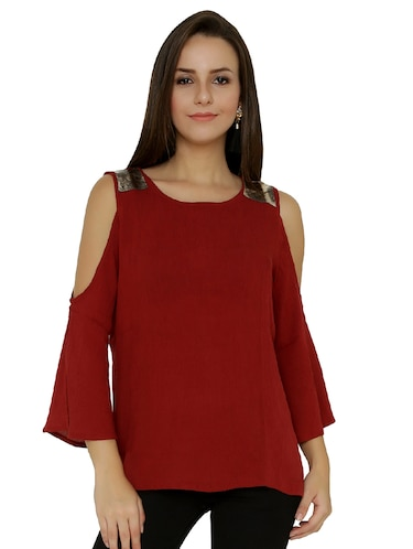 9b4764ac486 Buy Ruffled Cold Shoulder Top for Women from Rare for ₹636 at 51 ...