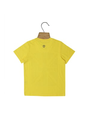 yellow cotton blend tshirt - 15610572 - Standard Image - 2