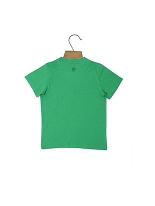 green cotton blend tshirt - 15610596 - Standard Image - 2