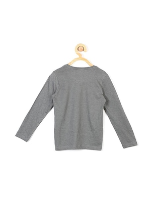 grey cotton blend tshirt - 15610635 - Standard Image - 2