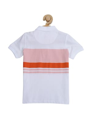 white cotton blend tshirt - 15610652 - Standard Image - 2