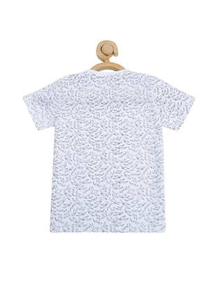 white cotton blend tshirt - 15610681 - Standard Image - 2
