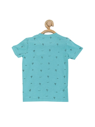 blue cotton blend tshirt - 15610684 - Standard Image - 2