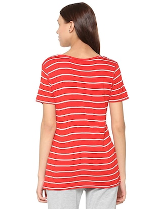 round neck stripped tee - 15610753 - Standard Image - 2