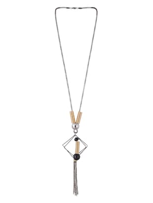 multi metal long necklace - 15611141 - Standard Image - 2