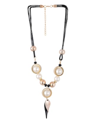 gold metal long necklace - 15611153 - Standard Image - 2
