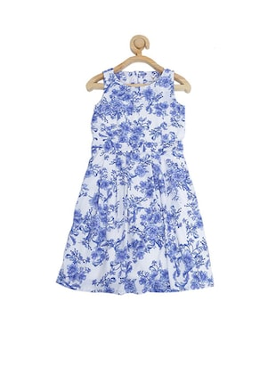 blue polyester frock - 15611263 - Standard Image - 2