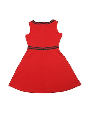 red polyester frock - 15611285 - Standard Image - 2