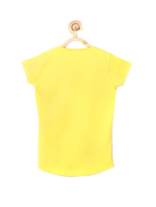 yellow cotton blend top - 15611467 - Standard Image - 2