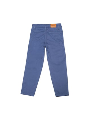 blue cotton blend chinos - 15611880 - Standard Image - 2