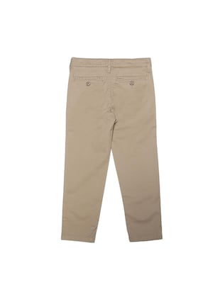 beige cotton blend chinos - 15611885 - Standard Image - 2