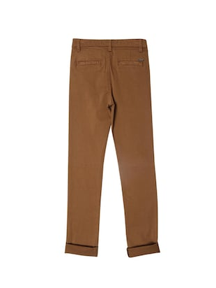 brown cotton blend chinos - 15611889 - Standard Image - 2