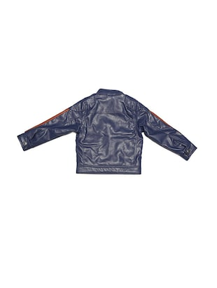 navy blue leather jacket - 15611931 - Standard Image - 2