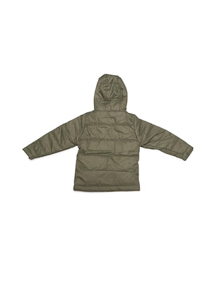 green polyester quilted jacket - 15611934 - Standard Image - 2