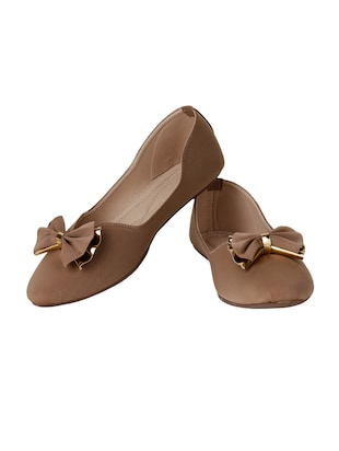 tan slip on ballerinas - 15612057 - Standard Image - 2