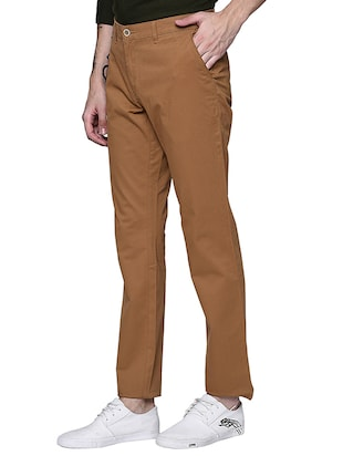 brown cotton chinos casual trouser - 15612305 - Standard Image - 2