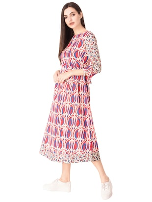 Printed a-line dress - 15612647 - Standard Image - 2