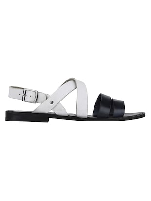 white Leather back strap sandals - 15613037 - Standard Image - 2