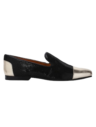black Leather casual slip ons - 15613197 - Standard Image - 2