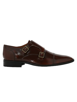 tan Patent Leather slip on monk straps - 15613228 - Standard Image - 2