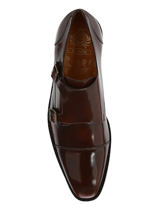 tan Patent Leather slip on monk straps - 15613228 - Standard Image - 5
