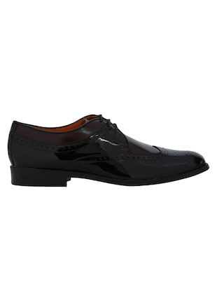 black Patent Leather lace-up derbys - 15613358 - Standard Image - 2