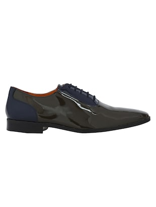 grey Patent Leather lace-up oxfords - 15613364 - Standard Image - 2