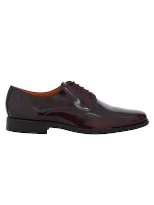 maroon Patent Leather lace-up derbys - 15613366 - Standard Image - 2