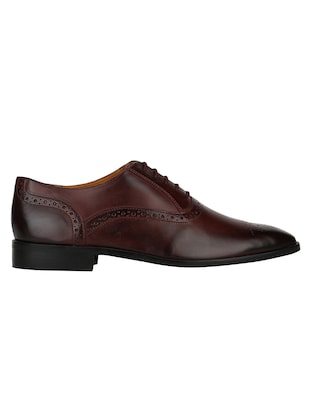 brown Leather lace-up oxfords - 15613380 - Standard Image - 2