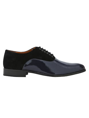 black Patent Leather lace-up oxfords - 15613383 - Standard Image - 2