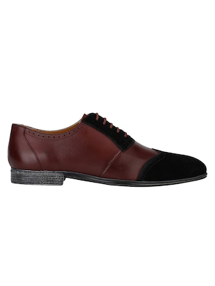 brown Leather lace-up brouges - 15613392 - Standard Image - 2