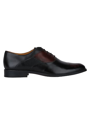 black Leather lace-up oxfords - 15613406 - Standard Image - 2