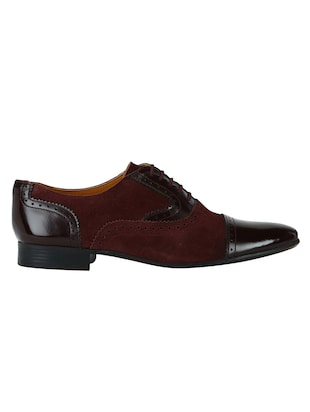 brown Suede lace-up oxfords - 15613421 - Standard Image - 2