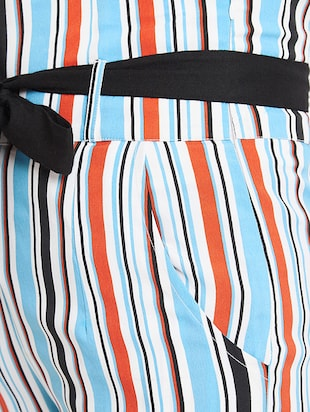 flared hem striped trouser - 15613513 - Standard Image - 5