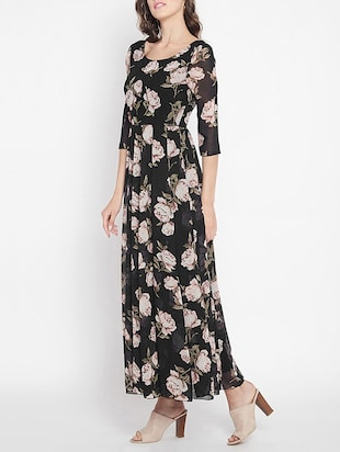 pleated floral maxi dress - 15613523 - Standard Image - 2