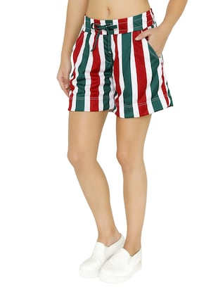 tie-knot detail striped shorts - 15614574 - Standard Image - 2