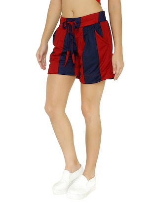 drawstring waist striped shorts - 15614581 - Standard Image - 2