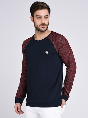 blue cotton raglan sweatshirt - 15614766 - Standard Image - 2